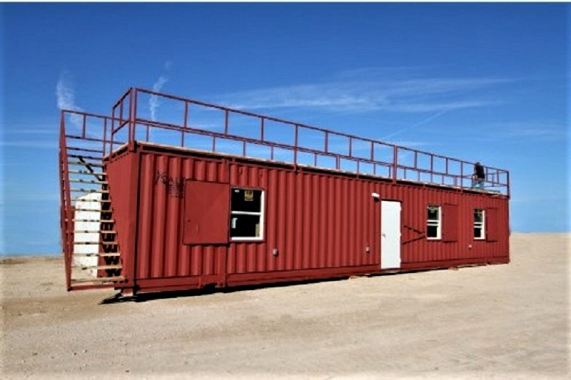 This is a customized 53 ft. steel container cabin