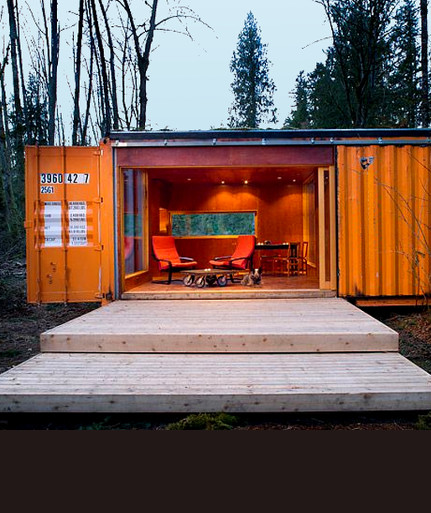 Shipping Container Hunting Cabin