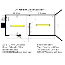 20' Job Box Office Container